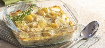 une recette de gratin de pommes de terre à la moutarde
