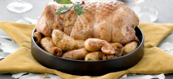 Galantine de dinde aux marrons et Pommes de terre aux quatre épices