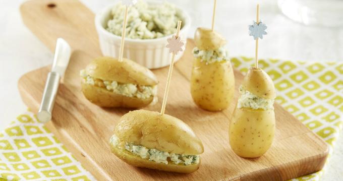 Bouchées de pommes de terre au roquefort