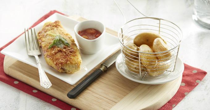 Escalopes milanaise et pommes de terre rissolées