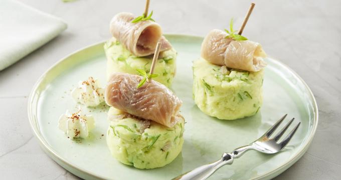 Purée de pommes de terre à l'anguille
